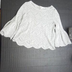 Gray flowy sweater